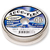 Beading wire, Accu-Flex®, .925 sterling silver, 7 strand, 0.014-inch diameter. Sold per 100-foot spool.