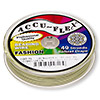 Beading wire, Accu-Flex®, Spring green, 49 strand, 0.024-inch diameter. Sold per 100-foot spool.