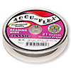 Beading wire, Accu-Flex®, clear, 21 strand, 0.014-inch diameter. Sold per 30-foot spool.