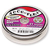 Beading wire, Accu-Flex®, clear, 21 strand, 0.019-inch diameter. Sold per 30-foot spool.