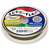 Beading wire, Accu-Flex®, khaki, 49 strand, 0.014-inch diameter. Sold per 100-foot spool.
