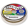 Beading wire, Accu-Flex®, metallic bronze, 49 strand, 0.024-inch diameter. Sold per 30-foot spool.