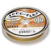 Beading wire, Accu-Flex®, nylon and brass, clear, 7 strand, 0.014-inch diameter. Sold per 100-foot spool.