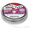 Beading wire, Accu-Flex®, nylon and stainless steel, clear, 7 strand, 0.014-inch diameter. Sold per 100-foot spool.