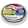 Beading wire, Accu-Flex®, nylon and stainless steel, gunmetal, 49 strand, 0.014-inch diameter. Sold per 100-foot spool.