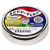 Beading wire, Accu-Flex®, nylon and stainless steel, midnight black, 49 strand, 0.019-inch diameter. Sold per 30-foot spool.