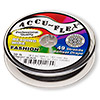 Beading wire, Accu-Flex®, nylon and stainless steel, midnight black, 49 strand, 0.024-inch diameter. Sold per 30-foot spool.