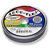 Beading wire, Accu-Flex®, nylon and stainless steel, stormy blue, 49 strand, 0.024-inch diameter. Sold per 100-foot spool.