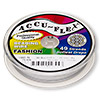 Beading wire, Accu-Flex®, pearl, 49 strand, 0.019-inch diameter. Sold per 100-foot spool.