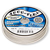 Beading wire, Accu-Flex®, silver-plated, 49 strand, 0.024-inch diameter. Sold per 100-foot spool.