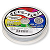 Beading wire, Accu-Flex®, snow white, 49 strand, 0.014-inch diameter. Sold per 100-foot spool.