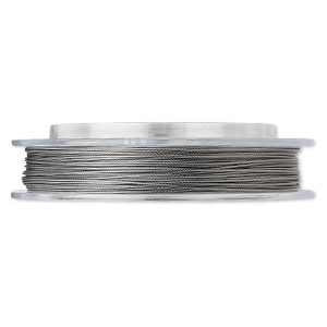 Beading wire, Tigertail™, nylon-coated stainless steel, clear, 7 strand, 0.026-inch diameter. Sold per 30-foot spool.