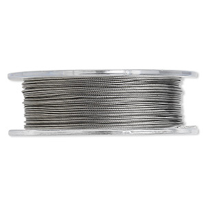 Beading wire, Tigertail™, nylon-coated stainless steel, clear, 7 strand, 0.020-inch diameter. Sold per 30-foot spool.