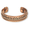 Bracelet, cuff, copper, 17mm band with cutout pattern, magnetic ends. Sold individually.