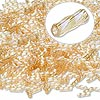 Bugle bead, Dyna-Mites™, glass, transparent rainbow light gold, 6mm twisted. Sold per 50-gram pkg.