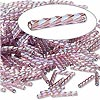 Bugle bead, Dyna-Mites™, glass, transparent rainbow light purple, 12mm twisted. Sold per 1/2 kilogram pkg.