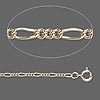 Chain, 12Kt gold-filled, 1.5mm oval figaro, 18 inches with springring clasp. Sold individually.