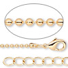 Chain, gold-finished brass, 1.5mm ball, 24 inches with 1-inch extender chain and lobster claw clasp. Sold per pkg of 2.