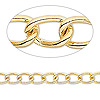 Chain, gold-plated brass, 7x5mm twisted cable. Sold per pkg of 5 feet.