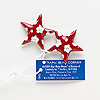 "Charm, enamel and antiqued silver-finished ""pewter"" (zinc-based alloy), red and white, 29x28mm star with flower design. Sold per pkg of 2."