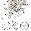 Chaton, Swarovski crystal rhinestone, Crystal Passions®, crystal clear, foil back, 2.4-2.5mm Xilion round (1028), PP18. Sold per pkg of 144 (1 gross).