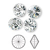 Chaton, Swarovski crystal rhinestone, Crystal Passions®, crystal clear, foil back, 12mm faceted rivoli (1122). Sold per pkg of 4.