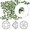Chaton, Swarovski crystal rhinestone, peridot, foil back, 3.0-3.2mm Xilion round (1028), PP24. Sold per pkg of 1,440 (10 gross).