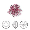 Chaton, Swarovski crystal rhinestone, rose, foil back, 1.5-1.6mm Xilion round (1028), PP9. Sold per pkg of 1,440 (10 gross).