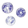 "Component, blueberry ""quartz"" glass, 21-30mm donut. Sold per pkg of 10."
