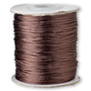 Cord, Satinique™, satin, dark brown, 1mm mini. Sold per 210-foot spool.
