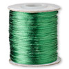 Cord, Satinique™, satin, dark green, 1mm mini. Sold per 210-foot spool.