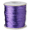 Cord, Satinique™, satin, purple, 1mm mini. Sold per 210-foot spool.