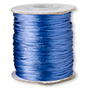 Cord, Satinique™, satin, royal blue, 1mm mini. Sold per 210-foot spool.