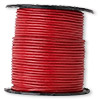 Cord, leather, red, 1mm. Sold per 25-yard spool.