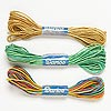 Cord mix, hemp, mixed colors, 0.5-0.8mm diameter. Sold per pkg of (3) 6-yard skeins.