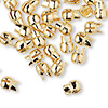 "Crimp, Bulldog Crimp™, gold-plated ""pewter"" (zinc-based alloy), 7x6mm. Sold per pkg of 50."