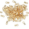 Crimp, gold-plated brass, 3.5x2mm tube with loop, 1.6mm inside diameter. Sold per pkg of 10.