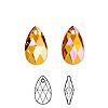 Drop, Swarovski crystal, Crystal Passions®, crystal astral pink, 16x9mm faceted pear pendant (6106). Sold per pkg of 24.