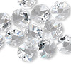 Drop, Swarovski crystal, Crystal Passions®, crystal clear, 12x12mm faceted octagon pendant (6401). Sold per pkg of 12.