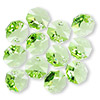 Drop, Swarovski crystal, peridot, 12x12mm faceted octagon pendant (6401). Sold per pkg of 144 (1 gross).