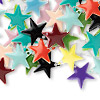Drop mix, epoxy and silver-plated brass, mixed colors, 12x12mm double-sided star. Sold per pkg of 40.