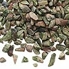 Embellishment, unakite (natural), mini to small undrilled chip, Mohs hardness 6 to 7. Sold per 50-gram pkg, approximately 950 to 1,200 chips.