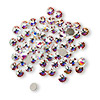 Flat back, Swarovski crystal rhinestone, Crystal Passions®, crystal AB, foil back, 3-3.2mm Xilion rose (2058), SS12. Sold per pkg of 12.