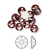 Flat back, Swarovski crystal rhinestone, Crystal Passions®, crystal antique pink, foil back, 7.07-7.27mm Xilion rose (2058), SS34. Sold per pkg of 12.