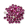 Flat back, Swarovski crystal rhinestone, Crystal Passions®, fuchsia, foil back, 3.8-4mm Xilion rose (2058), SS16. Sold per pkg of 144 (1 gross).