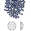 Flat back, Swarovski crystal rhinestone, dark indigo, foil back, 1.7-1.9mm Xilion rose (2058), SS5. Sold per pkg of 12.