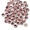 Flat back, Swarovski crystal rhinestone, light rose, foil back, 4.6-4.8mm Xilion rose (2058), SS20. Sold per pkg of 12.