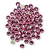 Flat back, Swarovski crystal rhinestone, rose, foil back, 3.8-4mm Xilion rose (2058), SS16. Sold per pkg of 1,440 (10 gross).
