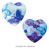 Focal, Blue Moon Beads®, blister pearl shell, blue and purple, 64x60mm heart. Sold individually.