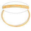 Memory wire, gold-finished stainless steel, 3-5/8 inch necklace, 0.6-0.75mm thick. Sold per 1-ounce pkg, approximately 30 loops.